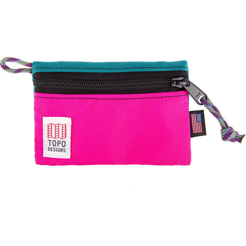 Topo Designs Micro Accessory Bag | Turquoise/Pink TDABF17TQ/PK