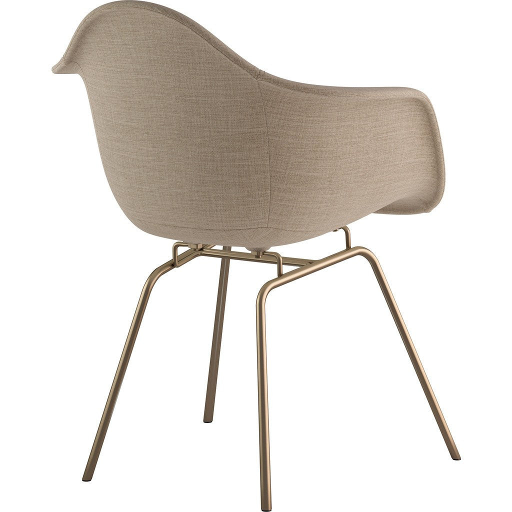 NyeKoncept Mid Century Classroom Arm Chair | Light Sand/Brass 332001CL2