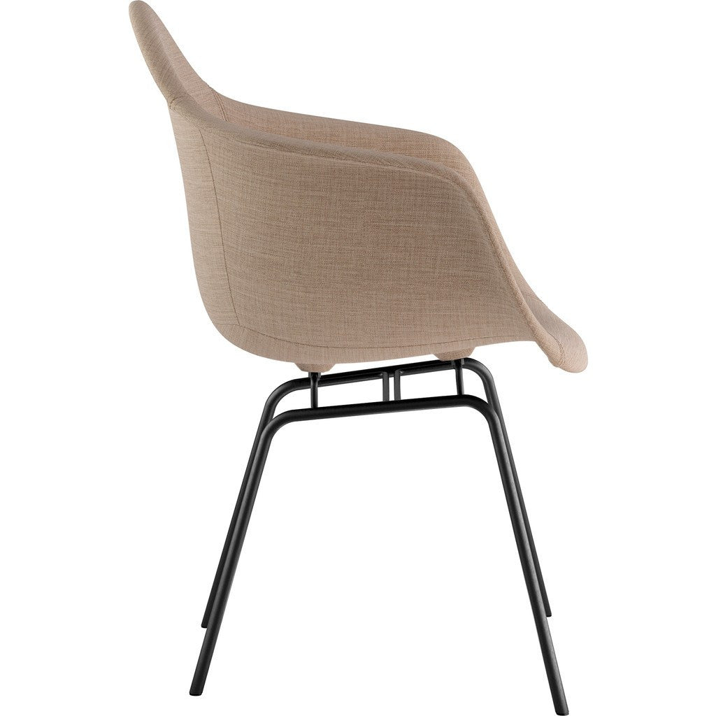 NyeKoncept Mid Century Classroom Arm Chair | Light Sand/Gunmetal 332001CL3