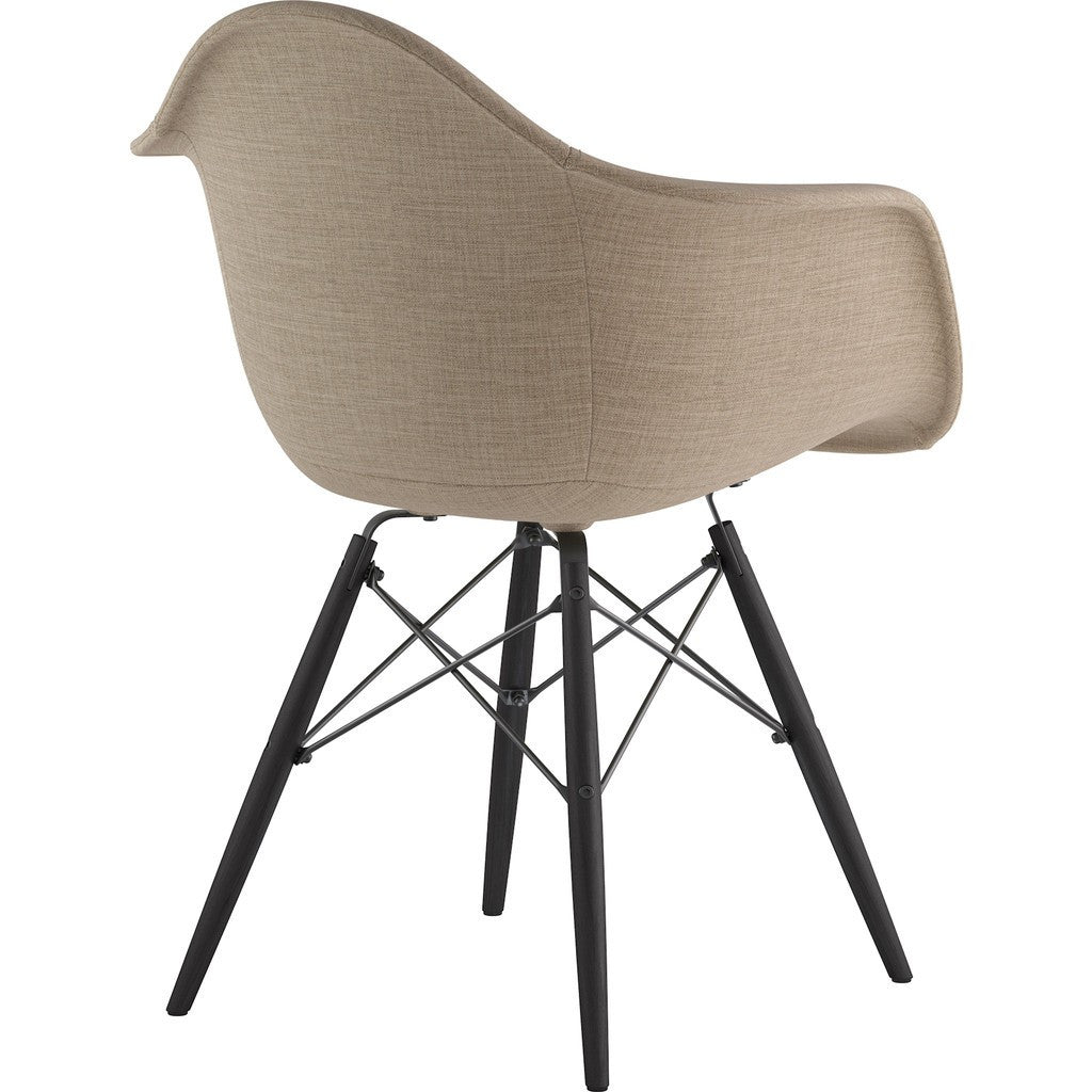 NyeKoncept Mid Century Dowel  Arm Chair | Light Sand/Gunmetal 332001EW3