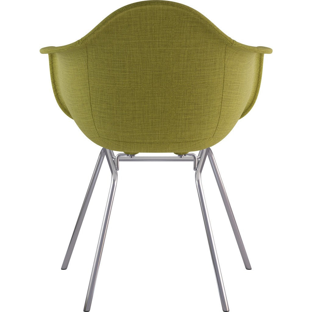 NyeKoncept Mid Century Classroom Arm Chair | Avocado Green/Nickel 332002CL1