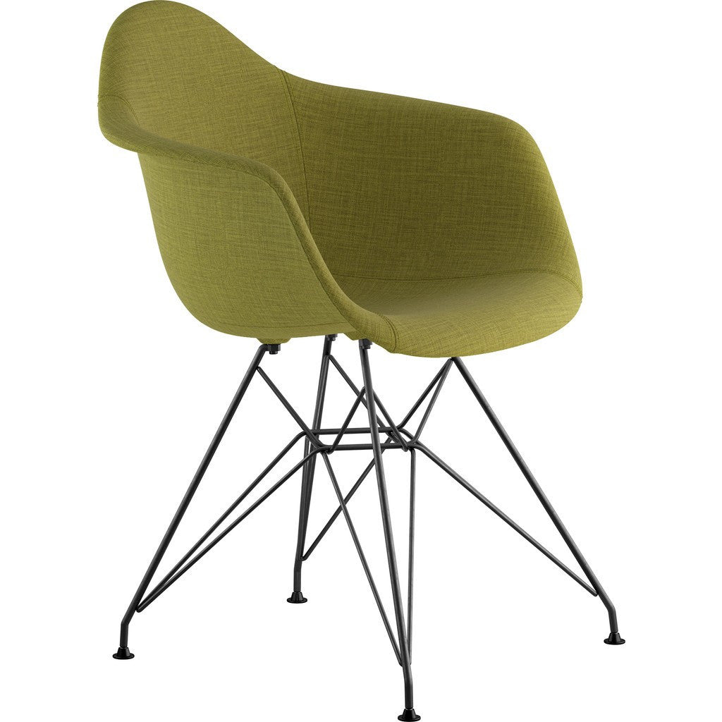 NyeKoncept Mid Century Eiffel Arm Chair | Avocado Green/Gunmetal 332002EM3