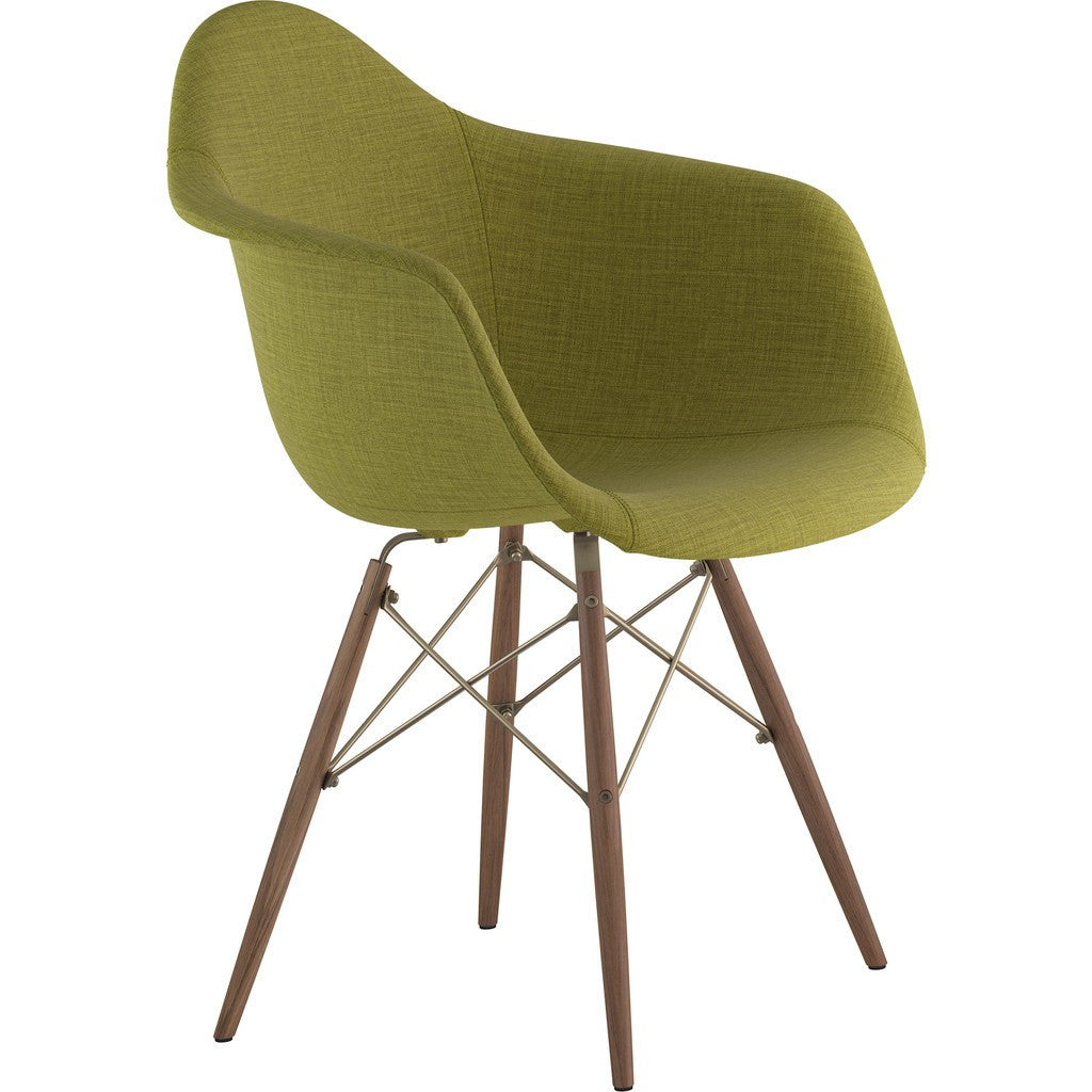 NyeKoncept Mid Century Dowel  Arm Chair | Avocado Green/Brass 332002EW2