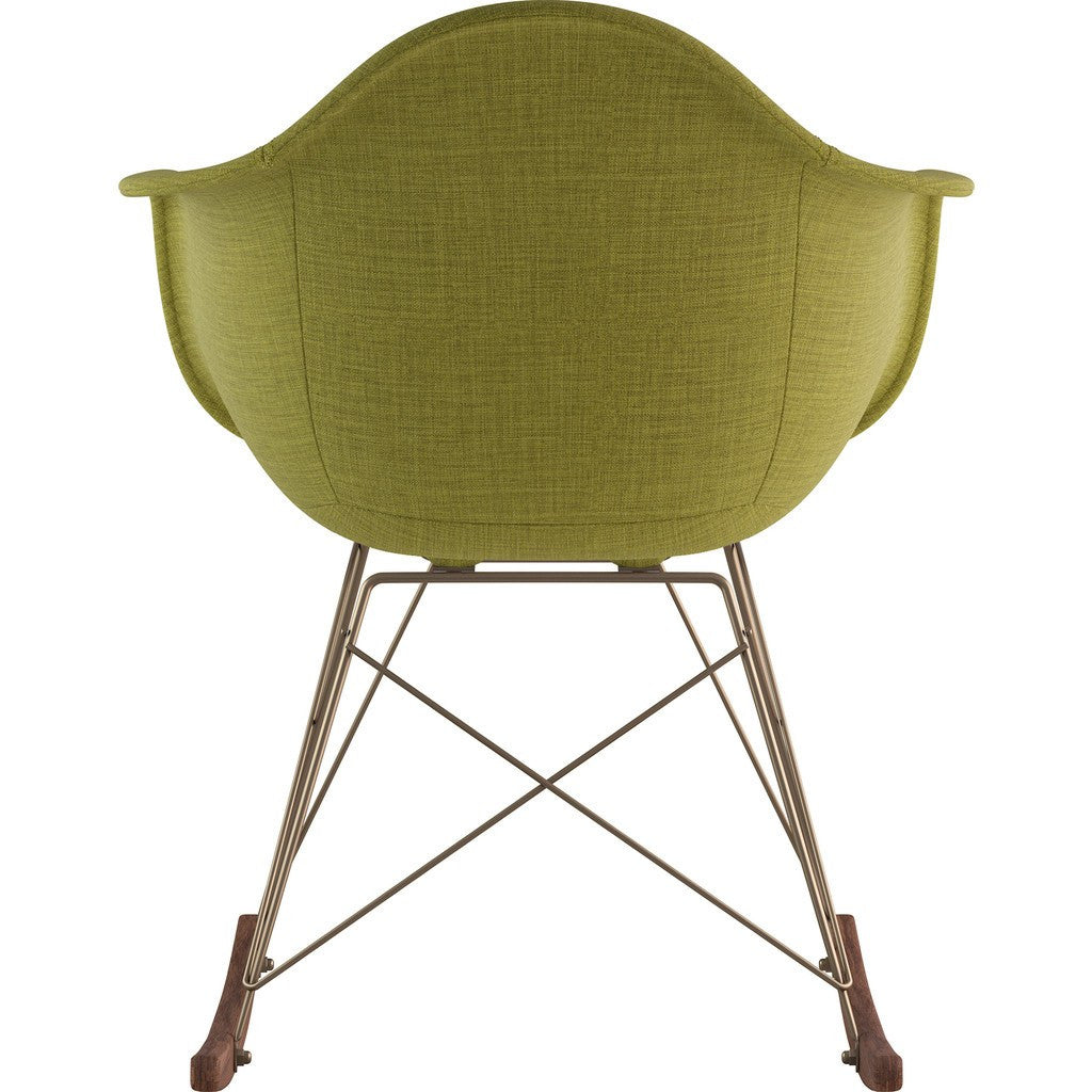 NyeKoncept Mid Century Rocker Chair | Avocado Green/Brass 332002RO2