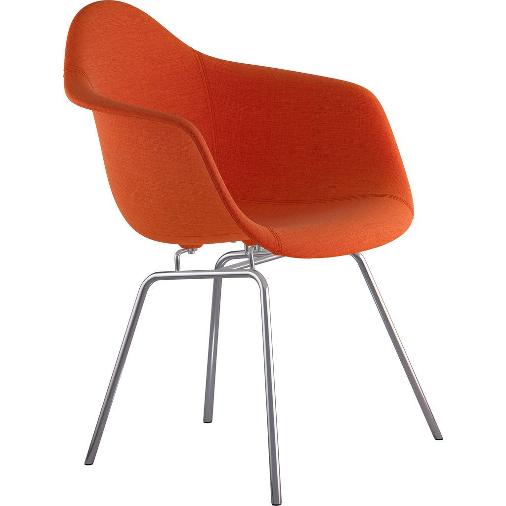 NyeKoncept Mid Century Classroom Arm Chair | Lava Red/Nickel 332004CL1