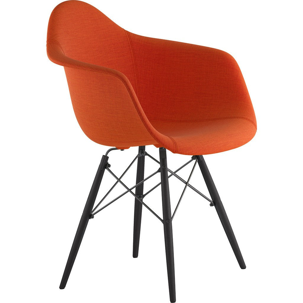 NyeKoncept Mid Century Dowel Arm Chair | Lava Red/Gunmetal 332004EW3