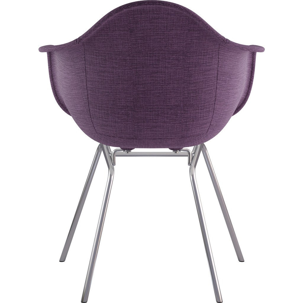 NyeKoncept Mid Century Classroom Arm Chair | Plum Purple/Nickel 332005CL1