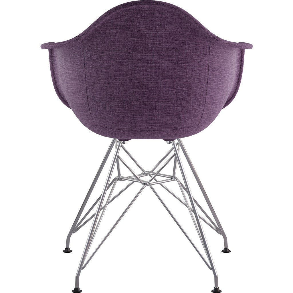 NyeKoncept Mid Century Eiffel  Arm Chair | Plum Purple/Nickel 332005EM1