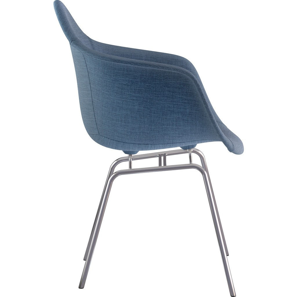 NyeKoncept Mid Century Classroom Arm Chair | Dodger Blue/Nickel 332006CL1