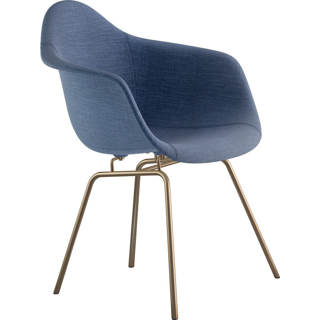 NyeKoncept Mid Century Classroom Arm Chair | Dodger Blue/Brass 332006CL2