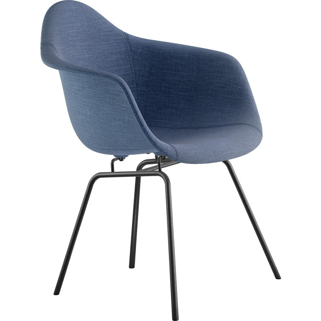 NyeKoncept Mid Century Classroom Arm Chair | Dodger Blue/Gunmetal 332006CL3