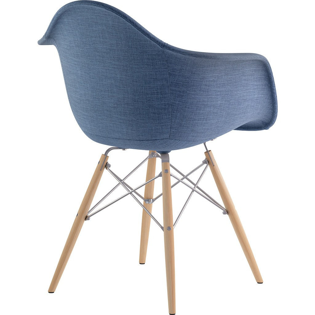 NyeKoncept Mid Century Dowel Arm Chair | Dodger Blue/Nickel 332006EW1