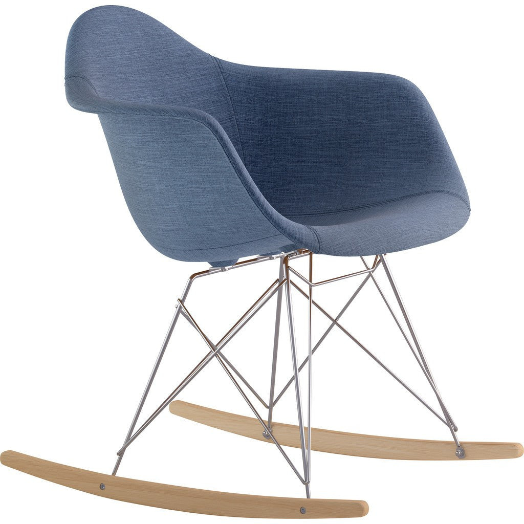NyeKoncept Mid Century Rocker Chair | Dodger Blue/Nickel 332006RO1