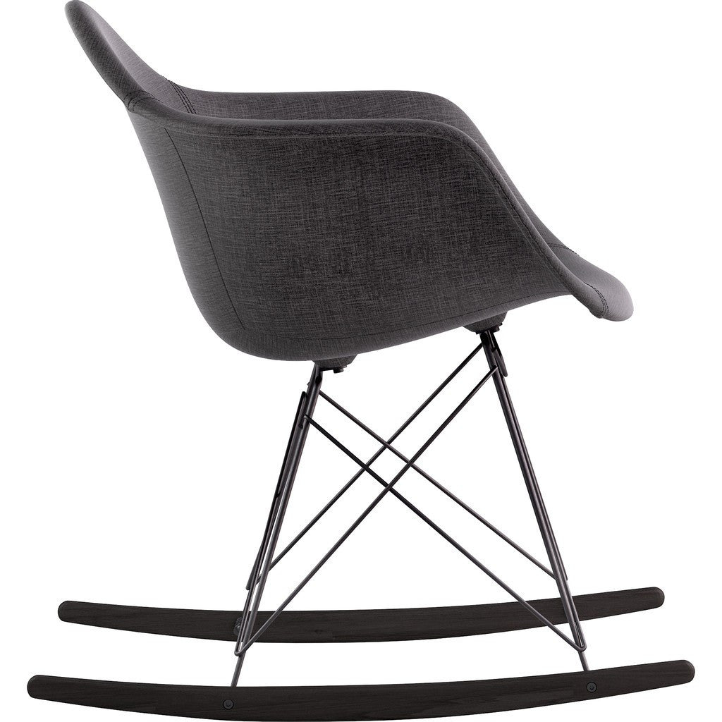 NyeKoncept Mid Century Rocker Chair | Charcoal Gray/Gunmetal 332008RO3