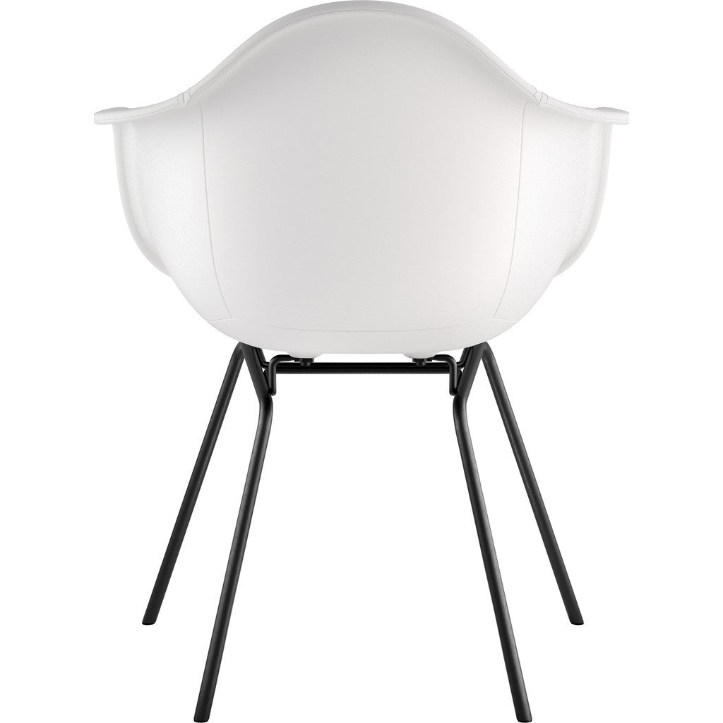 NyeKoncept Mid Century Classroom Arm Chair | Milano White/Gunmetal 332010CL3