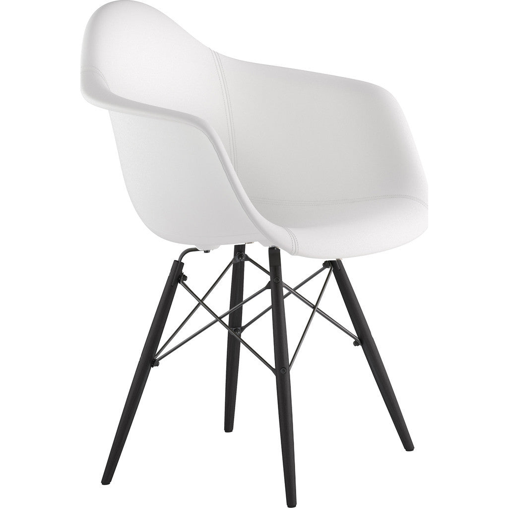 NyeKoncept Mid Century Dowel Arm Chair Milano White  : 332010 EW3 2 from www.sportique.com size 1024 x 1024 jpeg 55kB