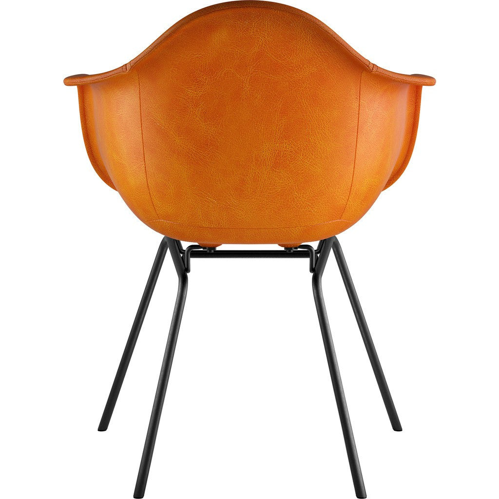 NyeKoncept Mid Century Classroom Arm Chair | Burnt Orange/Gunmetal 332011CL3
