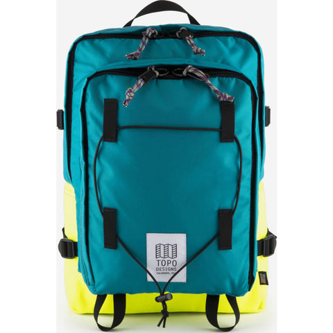 Topo Designs Stack Pack Backpack | Turquoise/Bright Yellow TDSPF17TQ/BY