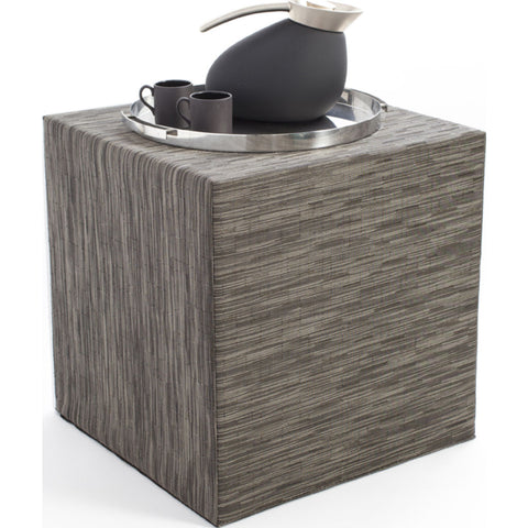 Chilewich Bamboo Cube Accent Table | Grey Flannel - 340111-012