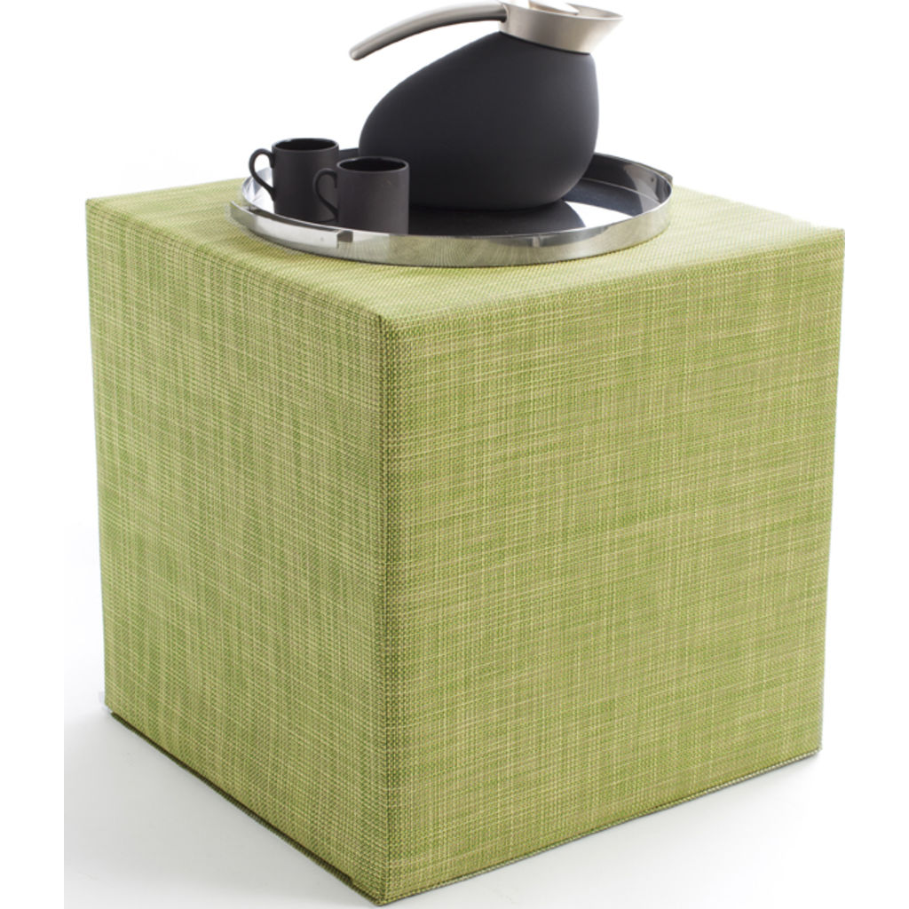 Chilewich Mini Basketweave Cube Accent Table | Dill   340112 008 ...
