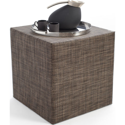 Chilewich Basketweave Cube Accent Table | Earth - 340113-013