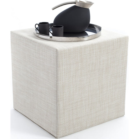 Chilewich Basketweave Cube Accent Table | Khaki - 340113-018