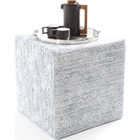 Chilewich Mosaic Cube Accent Table | Blue - 340122-001