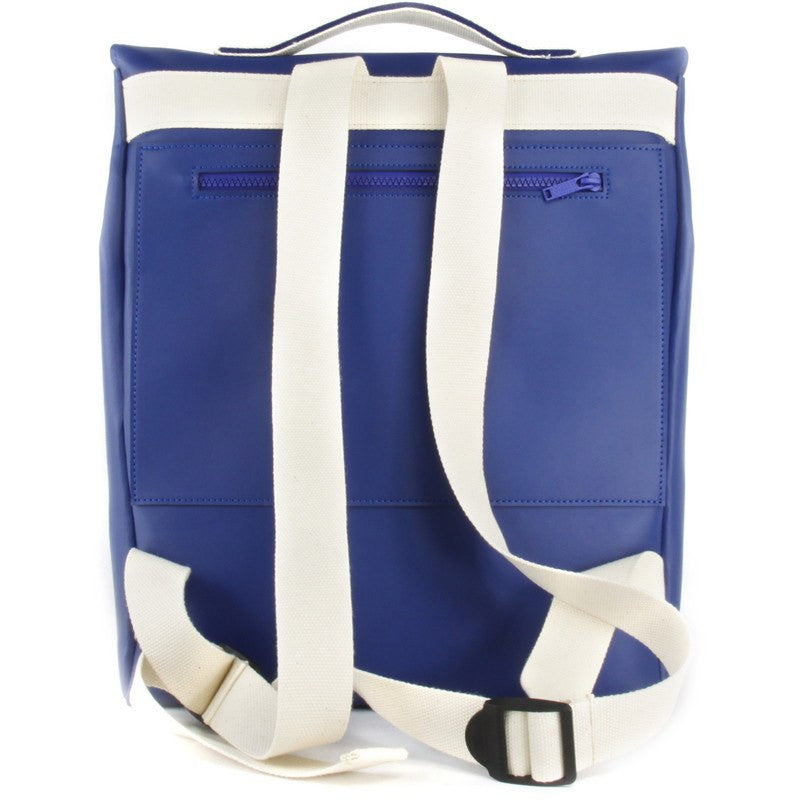 M.R.K.T. Carter Backpack VEGN Leather | Navy / White