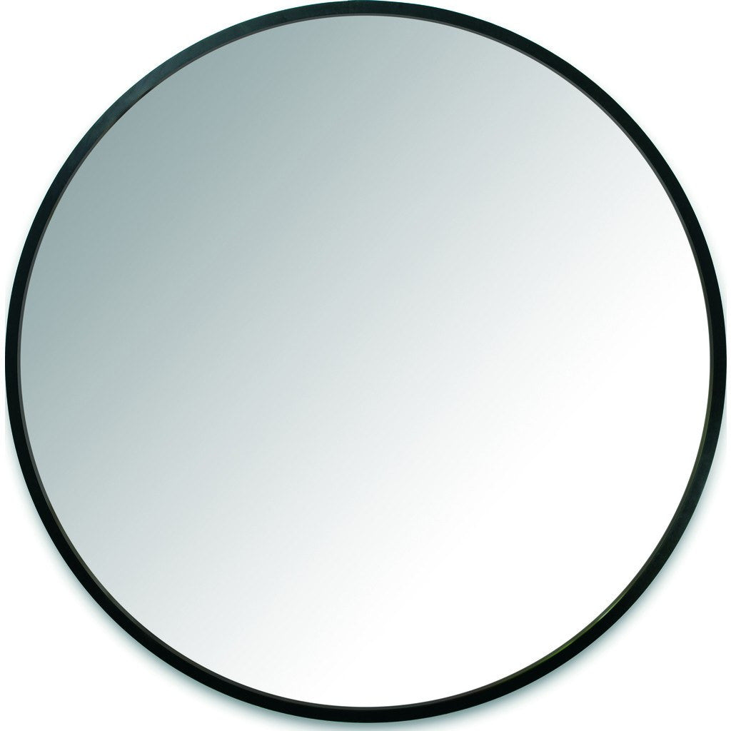 Umbra hub wall mirror black 358370 040 sportique for Miroir rond antique