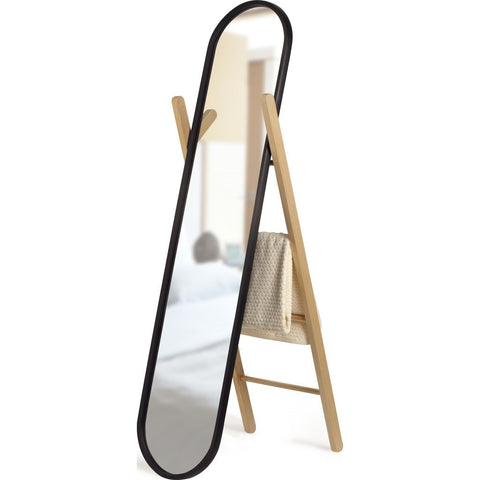 Umbra Hub Floor Mirror | Black/Natural 358375-045