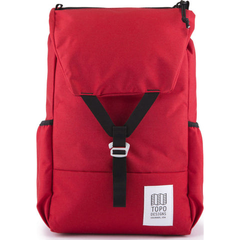 Topo Designs Y-Pack Commuter Backpack | Red TDYPF17RD