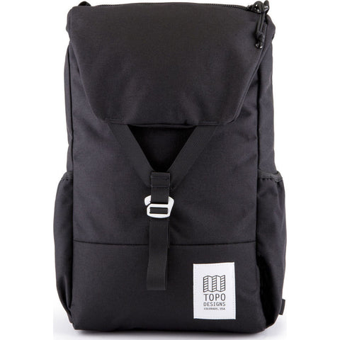 Topo Designs Y-Pack Commuter Backpack | Black TDYPF17BL