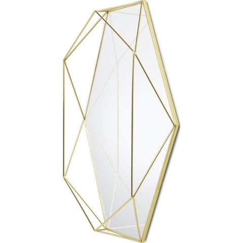 Umbra Prisma Mirror | Clear/Brass 358776-165