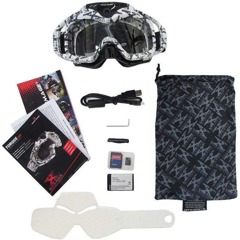 Liquid Image Model 368 HD Torque Off Road Goggles | White