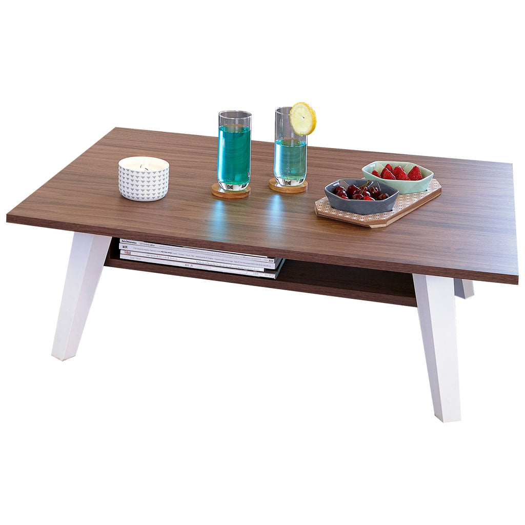 Symbiosis Prism Coffee Table w/ Magazine Rack | Walnut