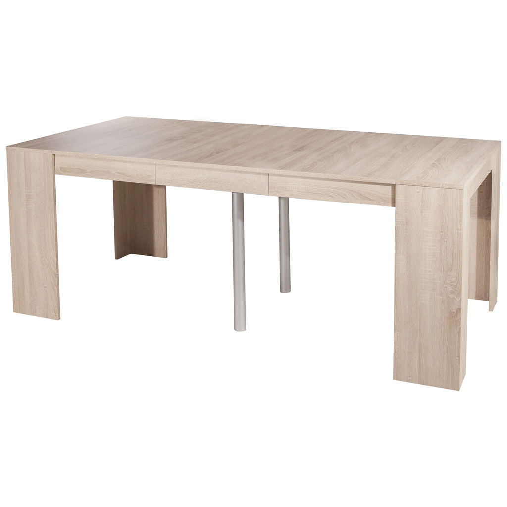 Symbiosis Elastic Expandable Console Table | Natural Oak