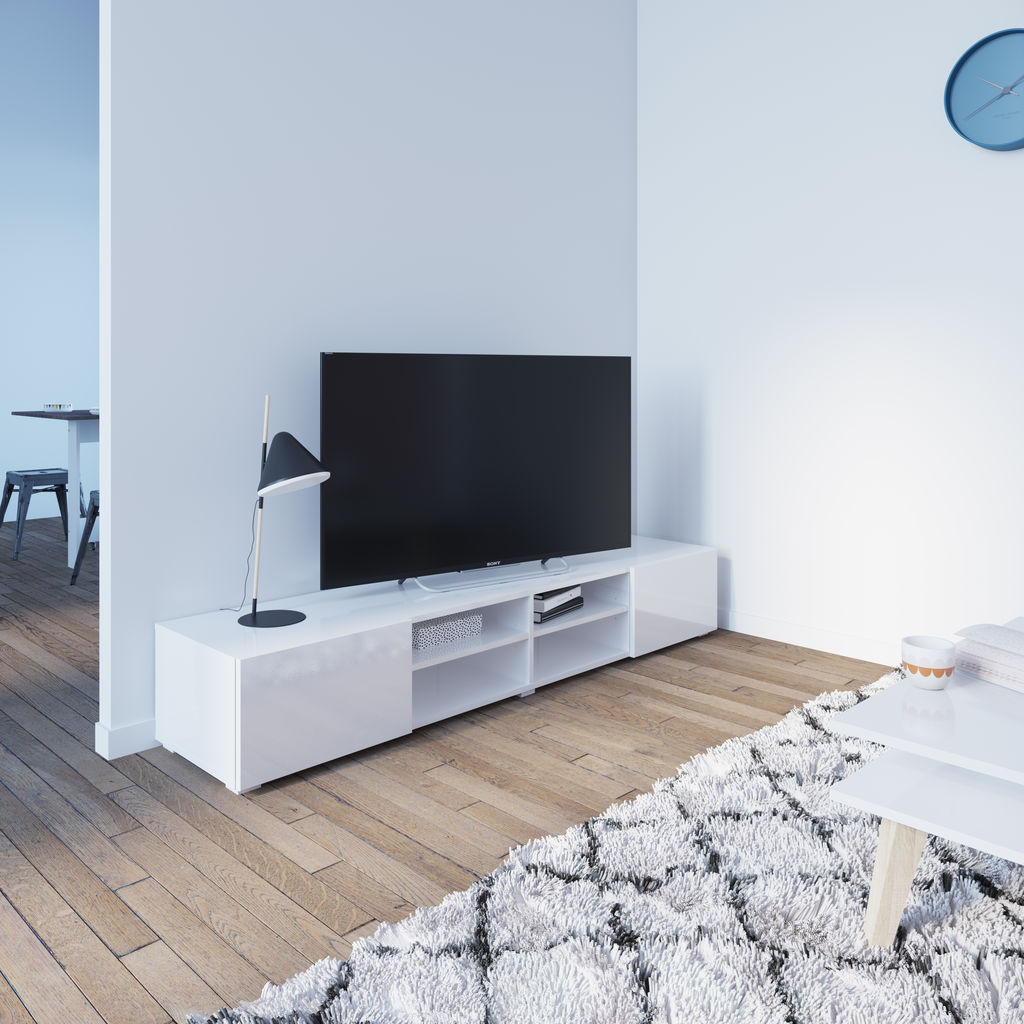 Symbiosis Podium 185 TV Stand | White