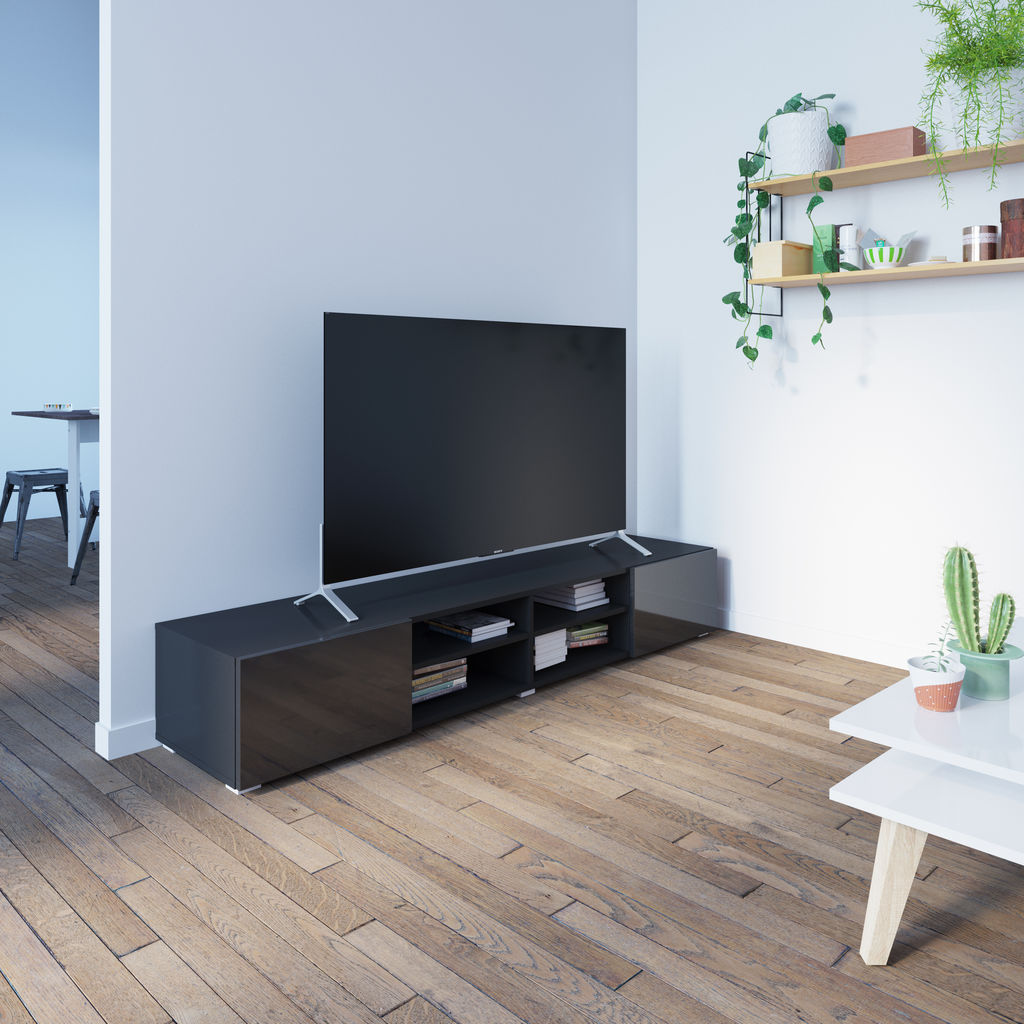 Symbiosis Podium 185 TV Stand | Black