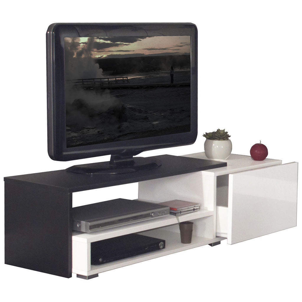 Symbiosis Briks 120 TV Stand | White / Black