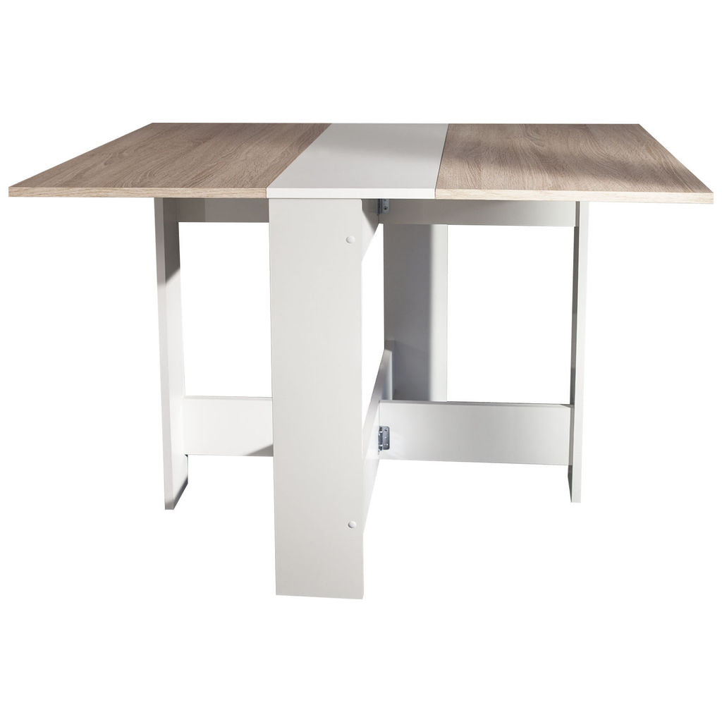 Symbiosis Papillon Foldable Table | White / Natural Oak