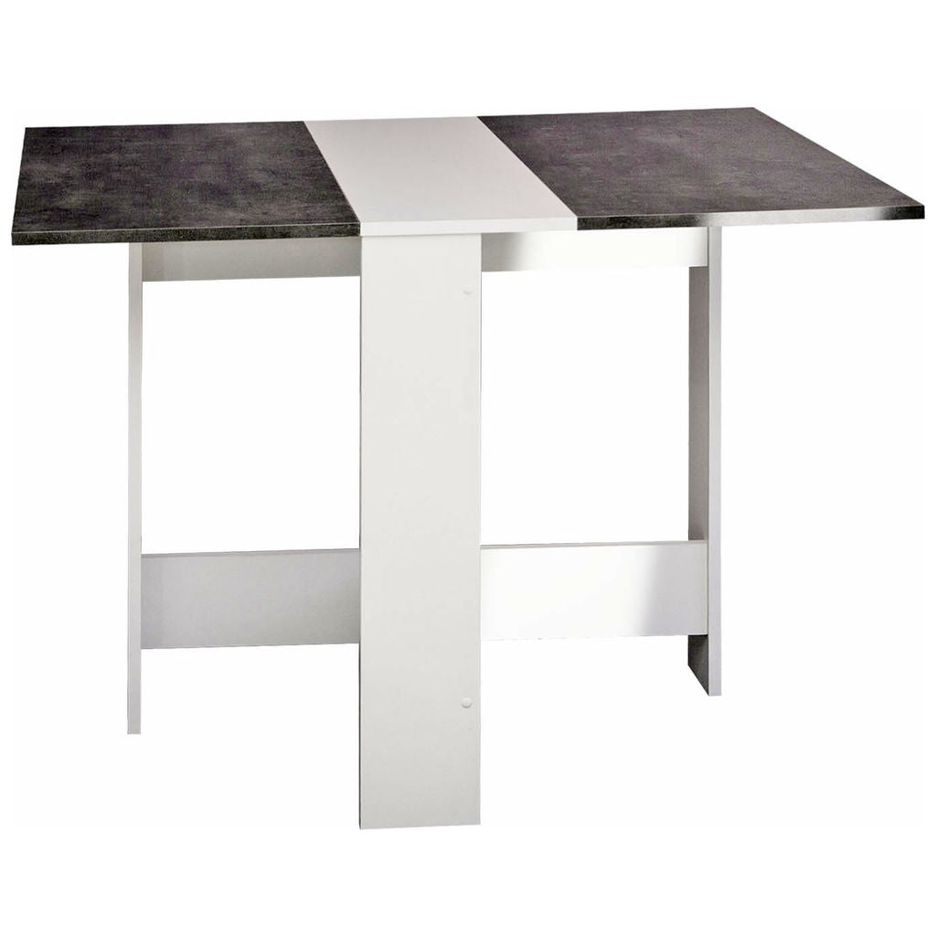 Symbiosis Papillon Foldable Table | White / Concrete