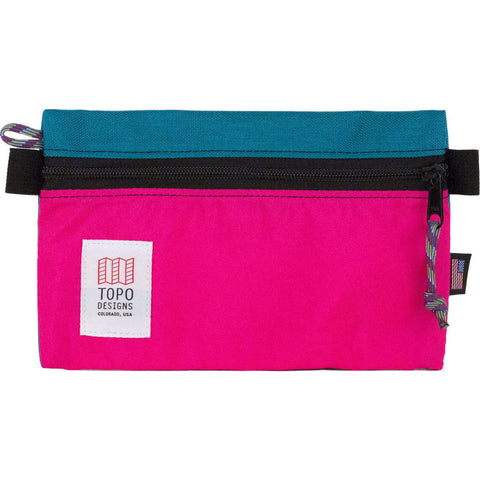Topo Designs Small Accessory Bag | Turquoise/Pink TDABF17TQ/PK