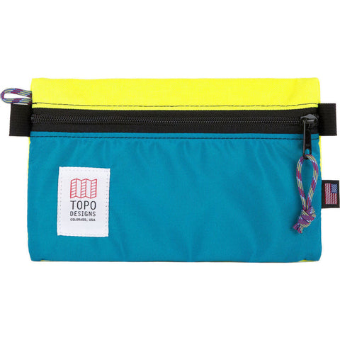 Topo Designs Small Accessory Bag | Yellow/Turquoise TDABF17BY/TQ