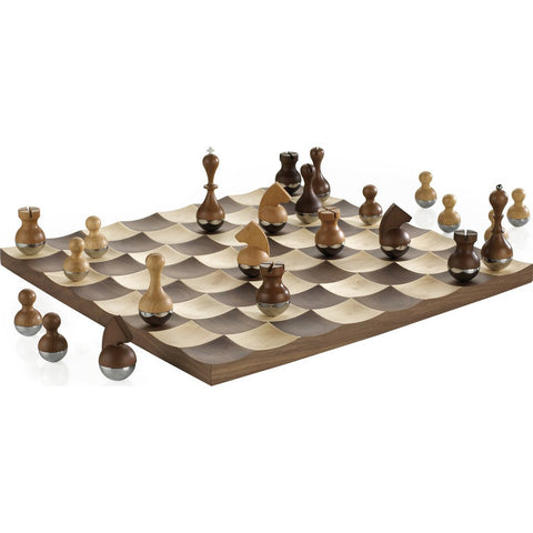 Umbra Wobble Chess Set | Walnut 377601-656