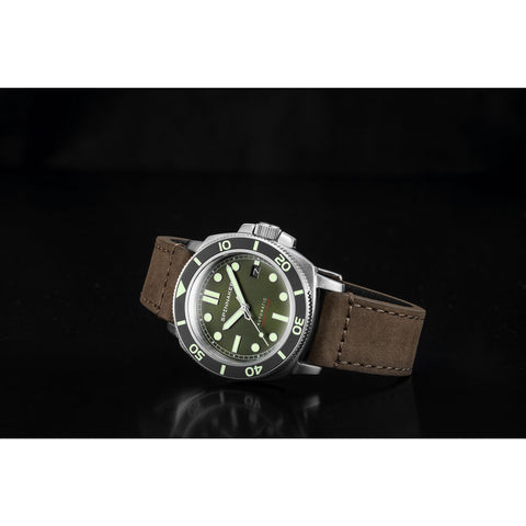 Spinnaker Hull SP-5088-03 Automatic Watch | Dark Green/Brown