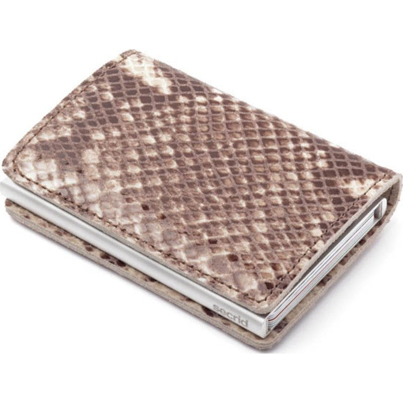 Secrid Slim Wallet Limited | Snake Taupe
