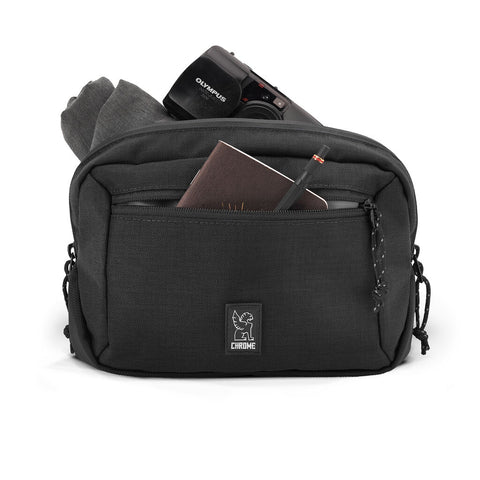 Chrome Ziptop Waistpack | Black