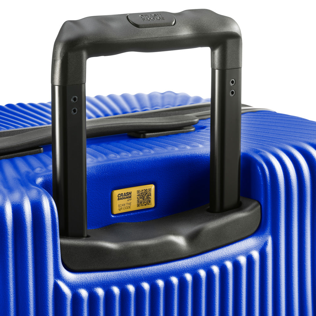 Crash Baggage Stripe Trolley Suitcase - Blue