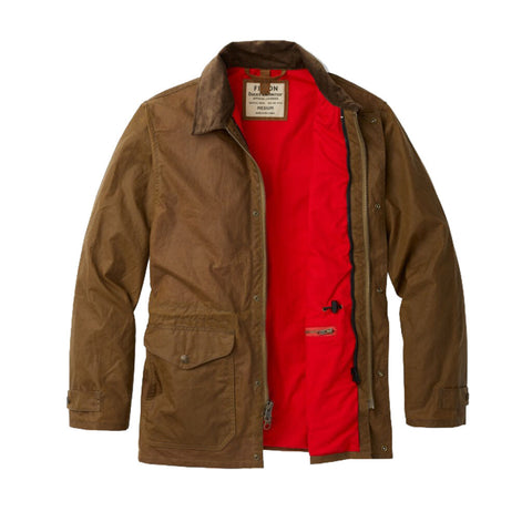 Filson Men's Cover Cloth Mile Marker Coat - Ducks Unlimited | Rugged Tan