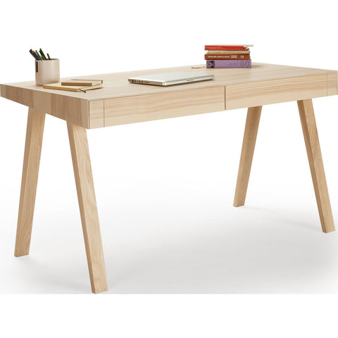 EMKO 4.9 Desk w/ 2 Drawers | Lithuanian Ash-4.9LVAR